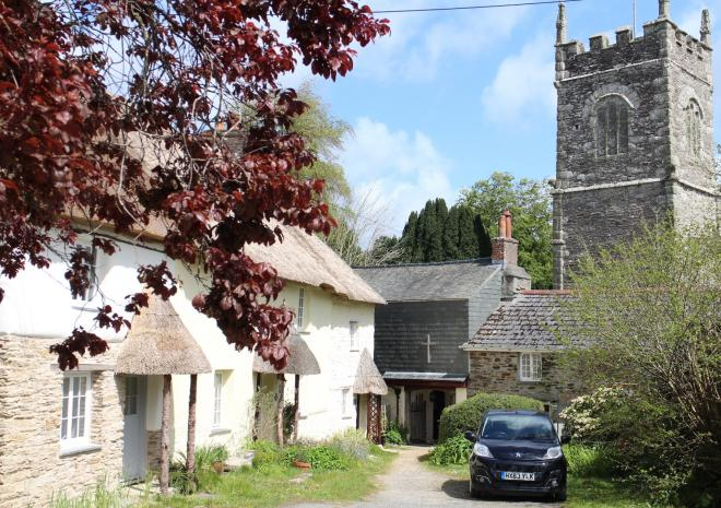 St. Clement village - just along the river from Malpas