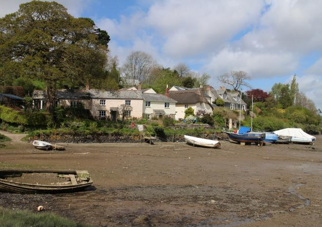 Waterside setting at St. Clement - just along the river from Malpas and Fal River Cottage