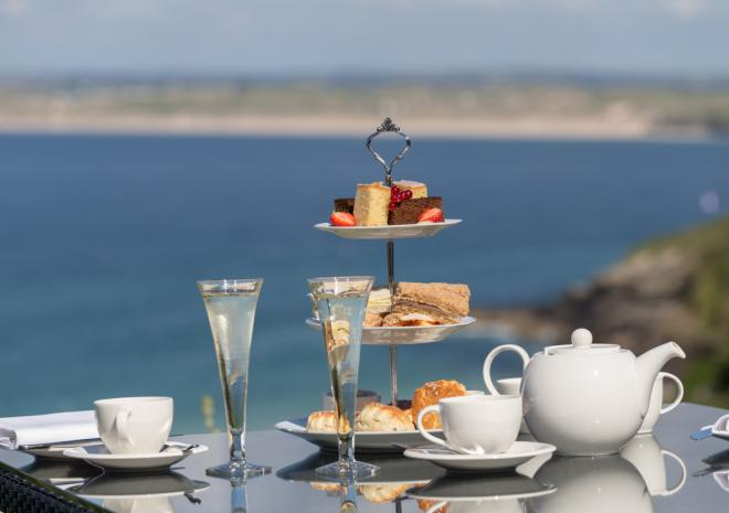 Afternoon tea at St Ives Harbour Hotel