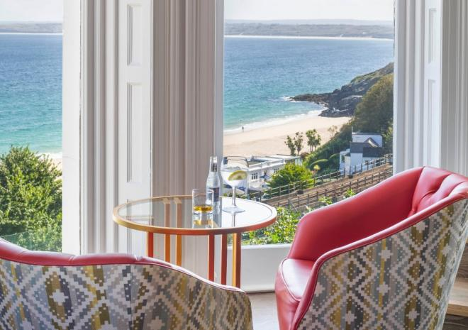 Soak up the view from HarBAR at St Ives Harbour Hotel