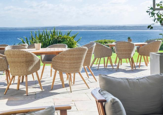 The terrace at St Ives Harbour Hotel & Spa