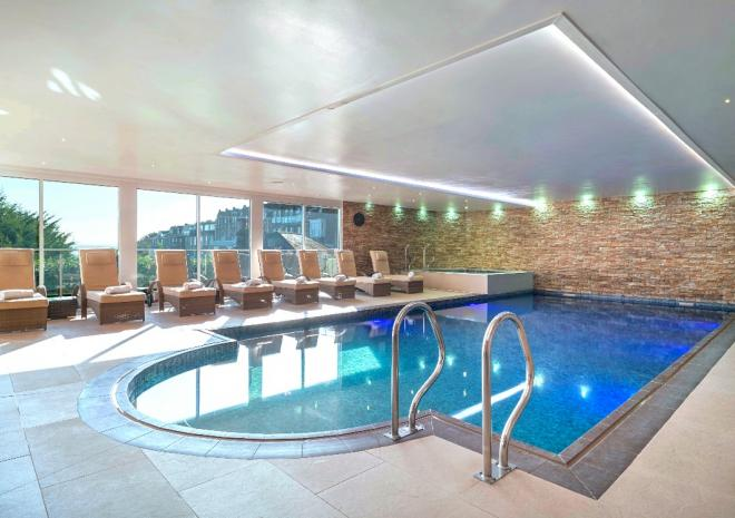 Indoor swimming pool at St Ives Harbour Hotel