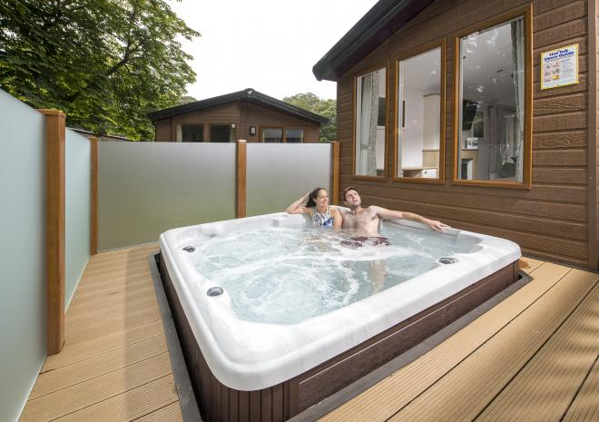 St Ives Holiday Village, Hot Tub, John Fowler, Holiday Parks, West Cornwall, St Ives