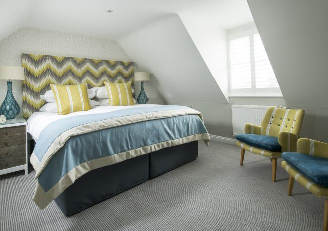 Bedroom at Padstow Harbour Hotel