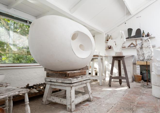 Barbara Hepworth's workshop