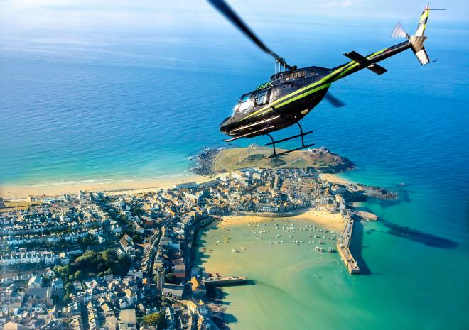 Helicopter flights over Cornwall