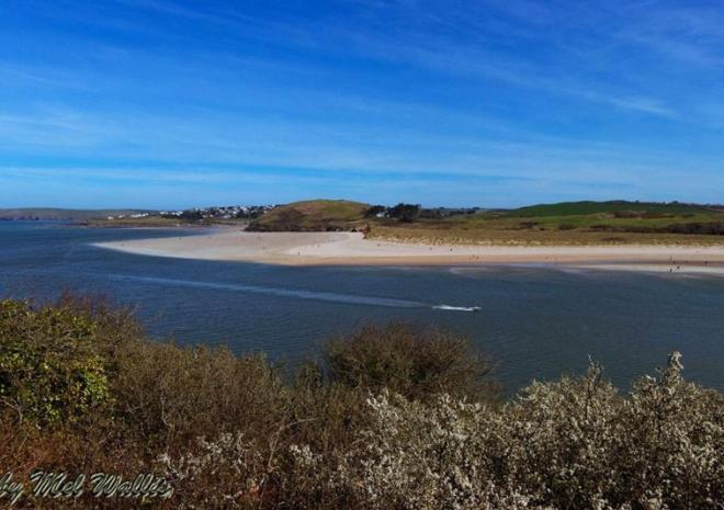 View along the Camel Trail looking over to Rock