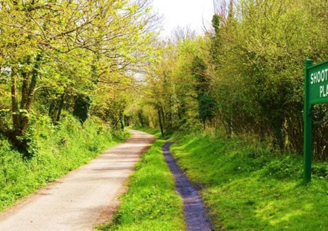 View along the Camel Trail cycling towards Bodmin