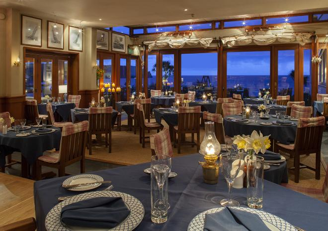 The Quarterdeck Restaurant at The Nare Hotel