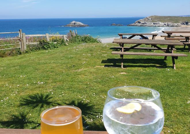 The views over Crantock beach from The Bowgie are breathtaking!