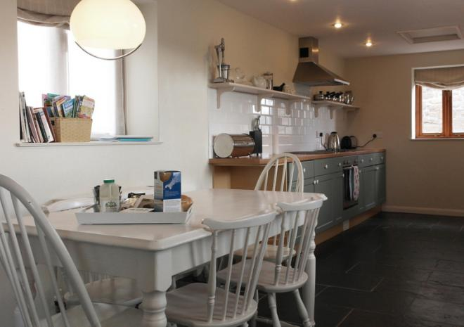 Kitchen of Brea Cottage and Hot Tub, St Ives, Cornwall