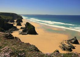 Bedruthan Steps, midway between Newquay and Padstow [c] Ingrid King
