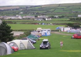 Headland Caravan and Camping Park, Tintagel, North Cornwall