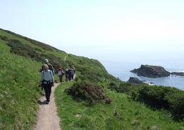 South West Coast Path, Looe to Polperro, Cornwall (m camp)