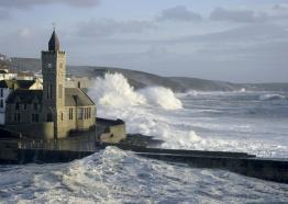 stormy seas, Porthleven, Cornwall, winter 2017