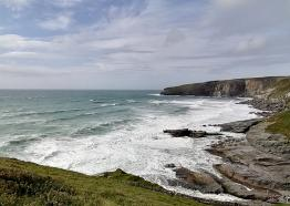 Stormy seas at Trebarwith Strand