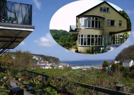 Gallen-Treath Guest House sea view and house, Bed and Breakfast, Porthallow, Lizard Peninsula, West Cornwall