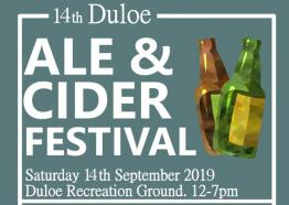 Duloe Ale & Cider fest, what's on Cornwall September 2019