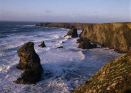 Bedruthan Steps, midway between Newquay and Padstow c sJoe Cornish