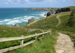 Coastline at Bedruthan Steps North Cornwall c SWCP Association