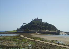 St Michael's Mount, mounts bay caravan park, marazion, west cornwall