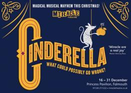 Cinderella, Miracle Theatre, Falmouth, Cornwall, What's On, December 2016