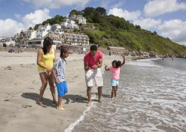 Looe Bay Beach, Looe Bay Holiday Park