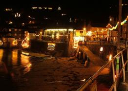 Mousehole Christmas Lights, West Cornwall