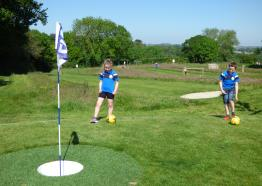 Football golf Cornwall