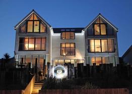 Pebble House at night, Mevagissey, Cornwall
