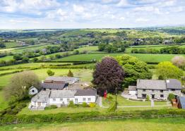 Higher Bamham Cottages Aerial View, Launceston, Cornwall