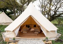 Bell Tent in The Glade at Cabilla Cornwall