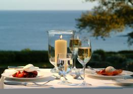 Outdoor dining, Talland Bay Hotel, Looe, Cornwall
