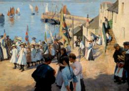 Stanhope Forbes (1857-1947), Gala Day at Newlyn, Cornwall. Oil on canvas, Hartlepool Museums and Heritage Service