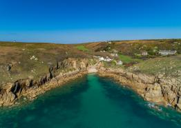 Porthgwarra Cove from above - credit Aerial Cornwall