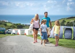 Widemouth Bay Caravan Park , Bude, Holiday Parks, safari tent, Cornwall