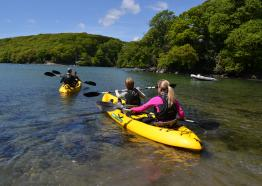 Free kayaking offer when staying at Budock Vean Hotel by the Helford River