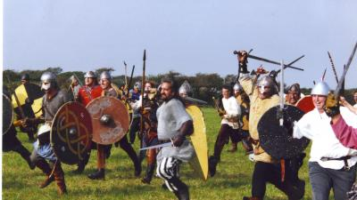 King Arthur re-enactment battle image
