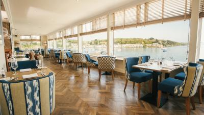 Water's Edge restaurant, The Greenbank Hotel, Falmouth