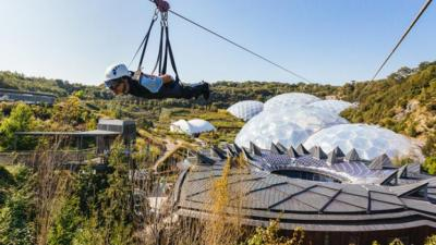 Skywire at Eden, The Eden Project, St Austell, Cornwall, adventure holiday