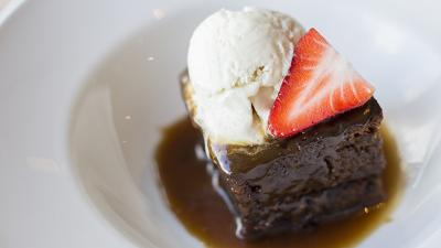 Vegan Sticky Toffee Pudding, Cornwall, Eating out