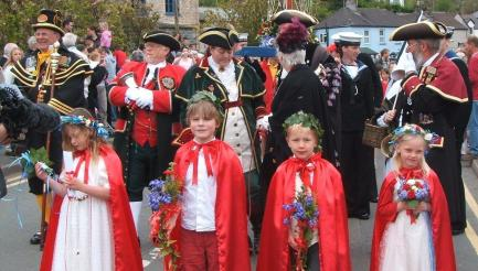 Black Prince Flower Boat Procession,Millbrook, Kingsand & Cawsand, Cornwall