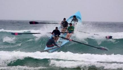 UK Surf Rowers Surfboats Summer League, Watergate Bay, Newquay, Cornwall